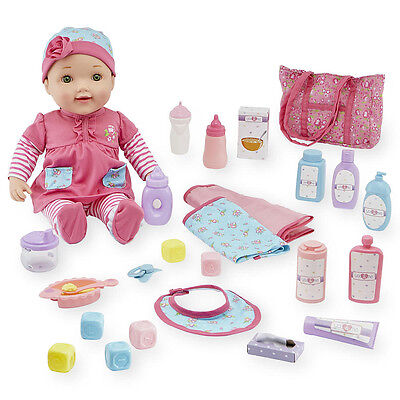 You & Me Baby Doll and Changing Bag Set