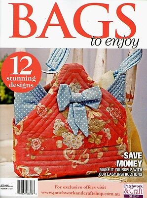 Bags To Enjoy  Magazine 2015   Pattern Sheet Attached