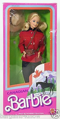 1987 Canadian Barbie Dolls Of The World Collection Dotw Nib