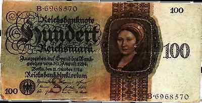 1924 Germany 100 Reichsmark Banknote / 100 trillion papermark