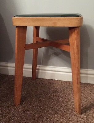Vintage Retro Benchair STOE Wooden Beech Kitchen Stool 50s 60s Mid Century Chair