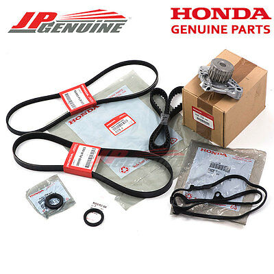 Genuine Oem 01-05 Honda Civic 1.7L Water Pump Ac Power Steering Timing Belt Kit