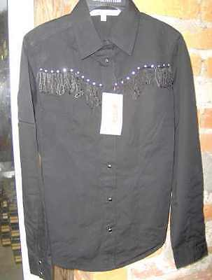 Camicia Western Cumberland Outfitters Con Frangette