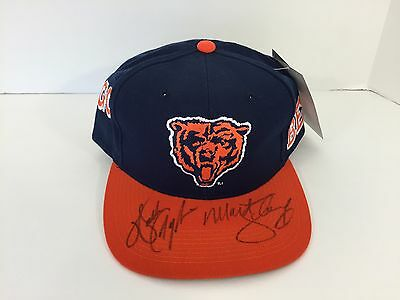 Walter Payton Matt Suhey Signed Autographed Chicago Bears Hat Signed In Person