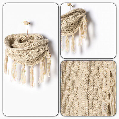 Zara Kids Girls Beige Sand Fringed Knit Scarf Size M
