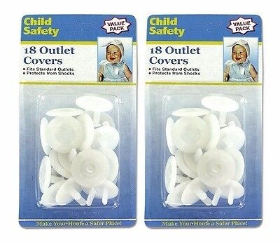 Child Safety Electric Outlet Plug Protector Cover Child Proof Shock Guard 36 pcs
