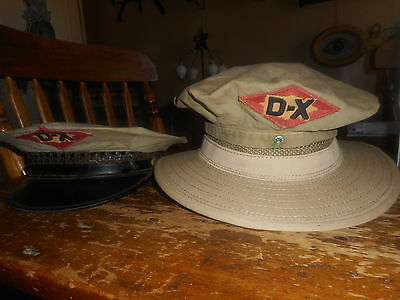 Vintage DX Gas Oil Company Advertising Hat Cap Cover Service Station Tulsa OK