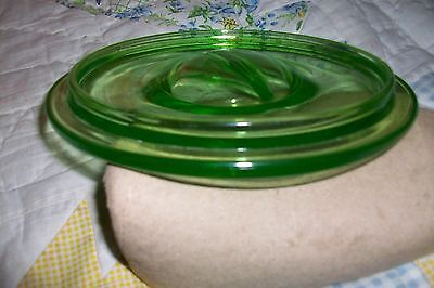 Lid only for Vintage Green Refrigerator Round Covered Glass Dish
