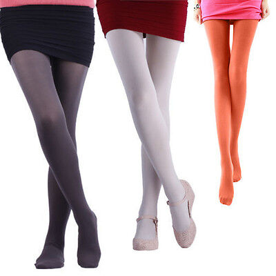 14 Colours Women Opaque Footed Tights Pantyhose Stockings Socks Autumn Winter #