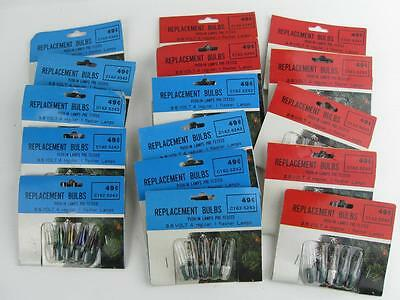 Lot Of 80 Vintage Nos Christmas Replacement Midget Bulbs 2.5-3.5V Colored Clear