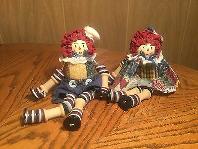 Raggedy Ann and Andy Shelf Sitters