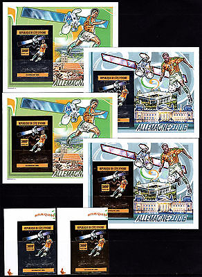IVORY COAST. FOOTBALL. WORLD CUP 2006. 2V+4SS gold+silver. IMPERF. MNH