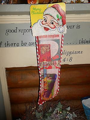 "Vintage 23"" Mesh Santa's Christmas Stocking Never Opened Kids Toys Trover Ind."