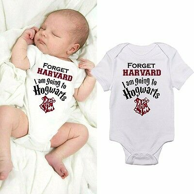Hogwarts Infant Baby Jumpsuit Bodysuit Romper Boy Girl Clothes Outfit 0-18 Month