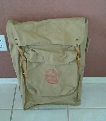 Vintage Boy Scout Back Pack 1329 Deluxe Yucca Canvas w/ Interior Metal Frame BSA