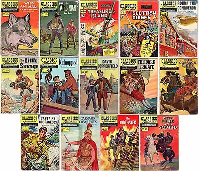 CLASSICS ILLUSTRATED Lot of 14 Vintage Comics Many ORIGINAL First Printings