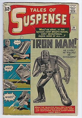 1963 TALES OF SUSPENSE #39 1st APP. OF IRON MAN HUGE KEY ISSUE NO RESERVE!
