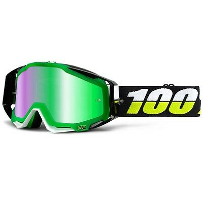 100% RaceCraft Simbad Goggles - Mirror Green Lens