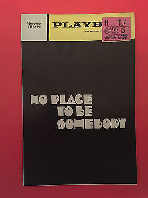 NO PLACE TO BE SOMEBODY Playbill w/ Terry Alexander, Philip Thomas (1971)