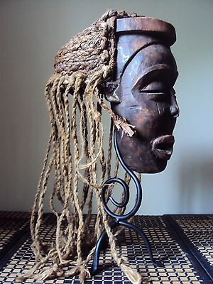 UNIQUE KUBA CONGO HEADDRESS Mask African Carving Statue!!