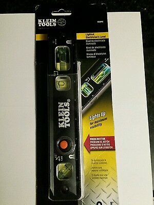 Klein Tools 9330RE 9-Inch Lighted Electrician's Level New