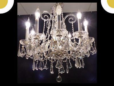 Genuine Full Leaded European Crystal Chandelier Exceptional Crystals 15 Arms • CAD $508.09