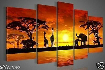 MODERN ABSTRACT WALL DECOR ART CANVAS-African Animal(No Frame)  004