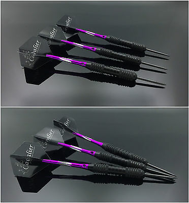 3pcs Box_Set Knight Darts W Plastic Vanes 22g Purple Professional Straight Darts