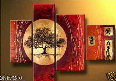 100%Hand-painted Art Abstract Oil Painting Landscape On Canvas (No Frame) 030