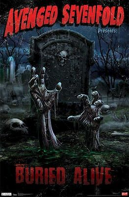 2011 AVENGED SEVENFOLD PRESENTS BURIED ALIVE POSTER 22x34 NEW FREE SHIPPING