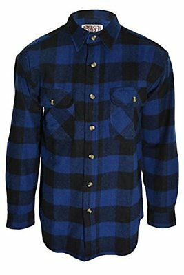 Guides Choice Pro Elite Men's Heavy Duty Flannel Shirt Buffalo Navy Blue