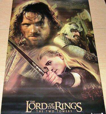 """Movie Poster: LORD OF THE RINGS, The Two Towers, Aragorn & Friends, 34"""" x 22"""""""