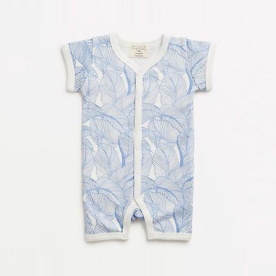 Wilson & Frenchy Blue Into The Jungle Growsuit Size 3-6 months