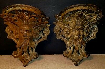 Antique cast iron (Gargoyle) wall sconces
