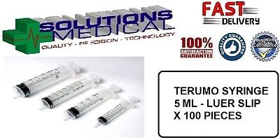 SYRINGE TERUMO 5ml WITH LUER SLIP TIP (Box 100)