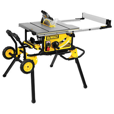 DEWALT 10-Inch Jobsite Table Saw with Rolling Stand and Guard Detect - DWE7499GD