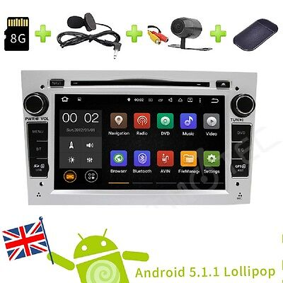 Android 5.1 Car Stereo DVD Player GPS Navi DAB OBD For OPEL Astra 2004 - 2009 UK