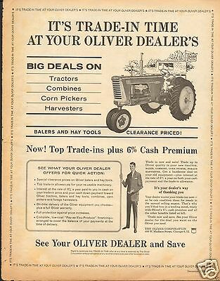 1959 Oliver 880 Farm Tractor Dealer Trade-In LARGE Print Ad