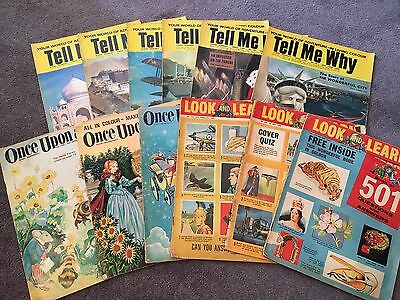 Vintage LOOK AND LEARN Once Upon A Time TELL ME WHY Magazines OLD BULK LOT