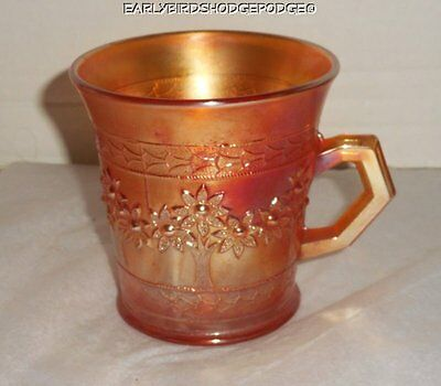 Fenton Carnival Glass Marigold Orange Tree Mug