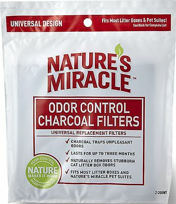 Nature's Miracle Odor Control Universal Charcoal Filter 2-Pack 2 Pack