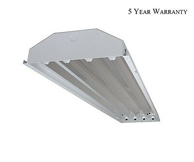 4 Bulb / Lamp T8 LED High Bay Warehouse Shop Garage Commercial Light Fixture