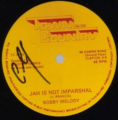 """Roots Dub Reggae Jah is Not Imparshal Bobby Melody Town & Country 12"""""""