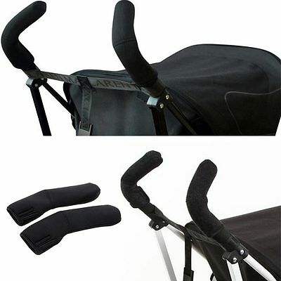 2Pcs Soft Stretchy Pushchair Stroller Handle Covers Pram Bar Bumble Grip Cover