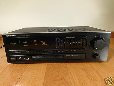 Pioneer SX-201 Stereo Receiver Graphic Equalizer 1989 Japan TESTED 100% Works!