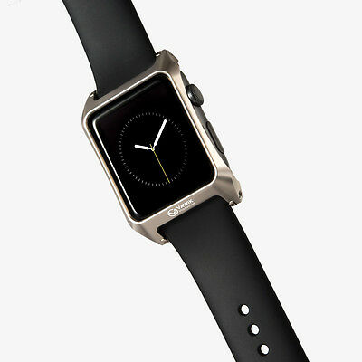 hairline bumper case aluminum champagne gold for Apple Watch 42mm Leather Loop