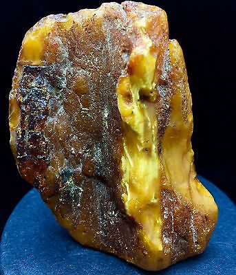 69g Natural Baltic Amber Stone Mat Yellow White Beeswax Colour Bernstein 琥珀色