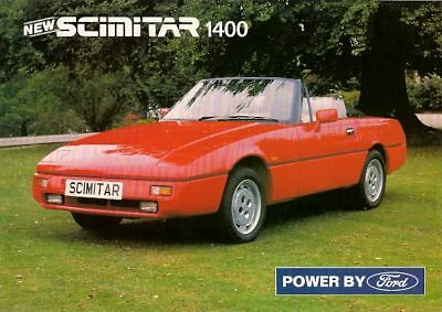 Reliant Scimitar SST 1400 1989-92 UK Market Leaflet Sales Brochure