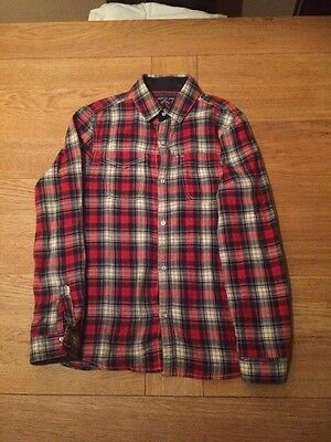 Boys Next Red Checked Shirt, Age 10 Years