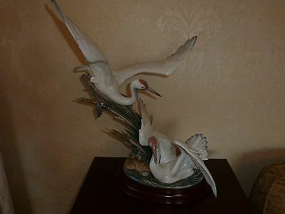 Lladro Cranes #1456 - Large and In Mint Condition